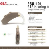Alat bantu dengar , BTE Hearing aid PRO 101 GEA medical