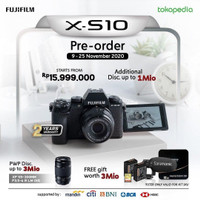 Fujifilm X-S10 Kit XC 15-45mm + XF 55-200mm - Fuji XS10 TasKameraID