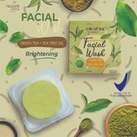 Naminara K-Beauty Facial Soap Bar 50gr Green Tea + Tea Tree oil