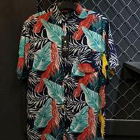 Baju pantai pria/wanita kece kemeja cowok pendek Printing
