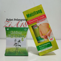 Meizitang Slimming Capsule + Meizitang Slimming Cream BPOM
