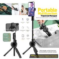 S8 Plastic Lazypod Tripod Multifungsi 360 Holder Stand Smartphone HP