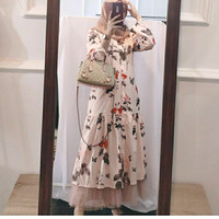 big sale 11.11 long tunic pink flowery