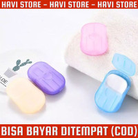 Paper Soap Portable - Sabun Kertas Traveling Serbaguna