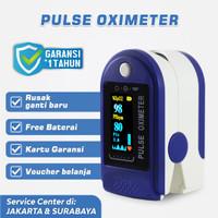 Oximeter Biru - Oxymeter Oksimeter Fingertip Pulse Oksigen Meter SpO2 - Hanya Oximeter