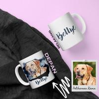 Kado foto Hadiah Costum Mug Cangkir Kopi Desain bagi pencinta hewan
