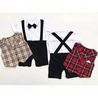 bj334 - setelan 3-12 bulan jumper rompi vest anak baju bayi baby laki