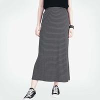 Rok Wanita / Trojan Black Long Skirt 53027L7BS - Logo Jeans