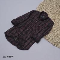 kemeja flanel planel flannel pria black & red