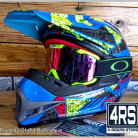 Paket Helm Cross Anak Scott-MX Original + Kacamata Goggle