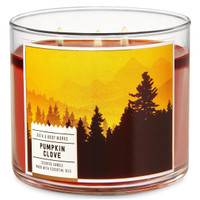 Bath and Body Works Pumpkin Clove 3 Wick Candle (Besar)