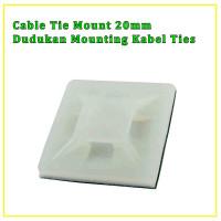 Dudukan Kabel Ties / Pengikat Kabel Ties / Tie Mount Putih MASKO