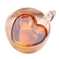 Cangkir Double Wall Anti Panas Insulated Cup 240ml Kopi Coffee Love