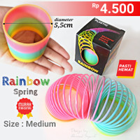 PER RAINBOW MAGIC SPRING MEDIUM (SEDANG) d : 5,5cm - MAINAN PER ANAK