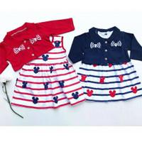 BJ63 Setelan 6-18 bulan bolero dress anak bayi balita perempuan tangan
