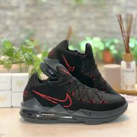 Sepatu Basket Nike Lebron 17 Low Bred Black Red Lakers Gold ORIGINAL