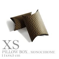 PILLOW BOX XS MONOCHROME / ZIG ZAG / EXTRA SMALL (8x11 cm) KRAFT