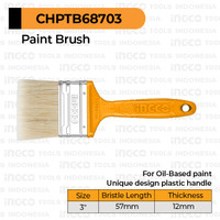 """Paint Brush (3"""") INGCO CHPTB68703 Kuas Cat Minyak 57 mm Kayu Besi Inch"""