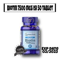 puritan's pride ultra biotin 7500 mcg isi 50 tablet - 50 tablet