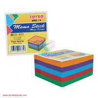 Kertas Memo Stick Tempel Post It Sticky Note Warna Solid JOYKO MMS-1A