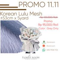 Korean Lulu Mesh - Flower Mesh - jaring bunga