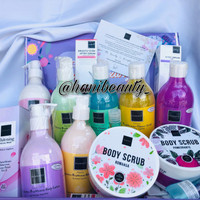 PAKET SCARLETT WHITENING BODY LOTION & SCARLETT SHOWER SCRUB ORIGINAL