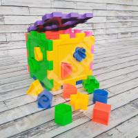 Puzzle Kubus Balok Mencocokkan Bentuk SRV Toys - Mainan Edukasi Anak