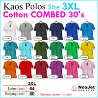 Kaos Polos 3XL XXXL Ukuran Besar Murah Combed 30 S Katun Pendek Oblong