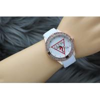 Jam Tangan Wanita GUESS RUBBER UK 40mm - Putih