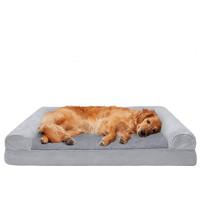 Furhaven Pet - Packable Travel Bed, Plush Orthopedic Sofa