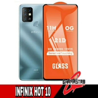 Tempered Glass Infinix Hot 10 Full Screen Protector Anti Gores
