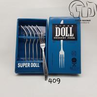 (6 Pcs) Garpu Buah SUPER DOLL 409 . Kedaung Dessert Fork / Fruit