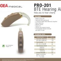 Alat bantu dengar , BTE Hearing aid PRO 201 GEA medical