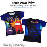 Kaos / T-Shirt Print Anak AMONG US (2 sisi) Nyaman dan Lembut