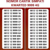 NOMOR CANTIK SIMPATI URUT NAIK 123 KWARTED 9999