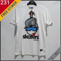kaos distro bm ori skaters putih