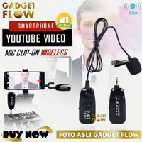 Microphone Mic Clip On Wireless 2.4G PRANK VLOG untuk Smartphone HP