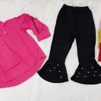 Setelan Anak Cewek Kemeja & Celana Impor Usia 3-6 Tahun
