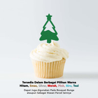 Cup Cake Topper MINI - CHRISTMAS TREE - Topper Kue Model Pohon Natal