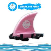 Pelampung Renang Punggung Shark Fin ANAK - KIDDIE SPLASH - Merah Muda