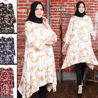 Tunik (mini dress) katun rayon premium (adem.lembut) jumbo size