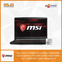 MSI GF63-10SCSR-677ID - Black [i7-10750H-8GB-512GB-W10]