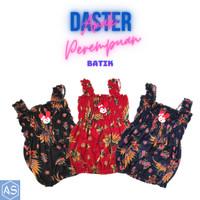 Daster Yukensi Dress Anak Perempuan Motif Batik Usia 1-2 Tahun Singlet - Hitam