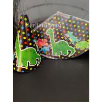 Topi Karakter Dinosaurus / Topi Dinosaurus Kerucut / Topi Ualng Tahun