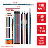 Pulpen Bolpen Ballpoint Pen JOYKO BP-327 MAZE (Hitam) 0.7 mm Murah