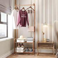 Rak Gantungan Baju Multifngsi/Stand Hanger/Topi Baju Tas Jaket