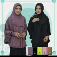 jilbab langsung lengan/ jilbab berlengan/ bergo lengan/ bergo lengan