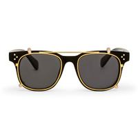 Frame Kacamata Clip On / Fashion / Locke Black