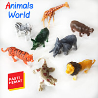 ANIMALS WORLD SET - MAINAN MURAH KOLEKSI BINATANG ANAK