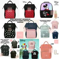 Diaper Bag Disney Original Tas Susu Mommy Bag Tas Ransel Backpack - RANDOM